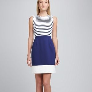 Kate Spade New York Striped Sleeveless Midi Dress